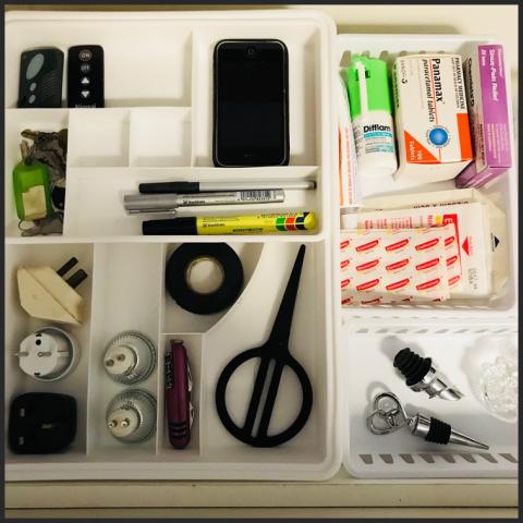 organised junk drawer, oirganized junk drawer, de-clutter, madesmart junk drawer organizer